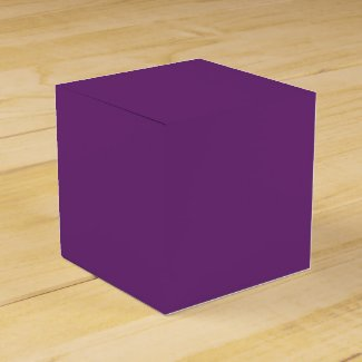 Solid Violet Favor Boxes