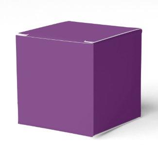 Solid Violet Favor Boxes