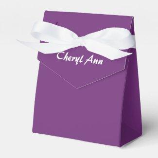 Solid Violet Monogram Favor Box