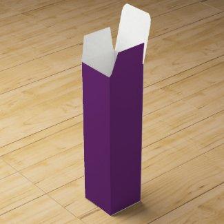 Solid Violet Wine Bottle Box