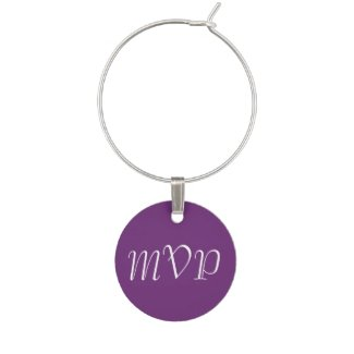 Solid Violet Wine Glass Charm