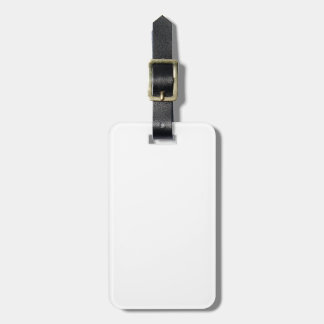Solid White Luggage Tag
