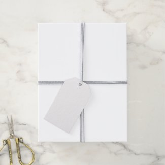 Solid White Pack Of Gift Tags