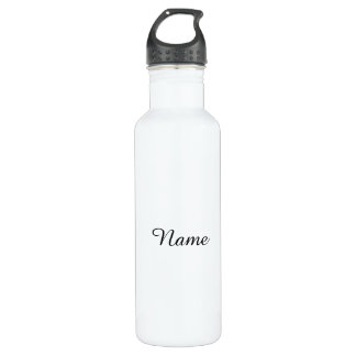 Solid White Personalized Stainless Steel Water Bottle