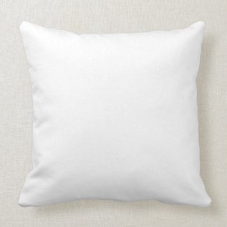 Solid White Throw Pillow