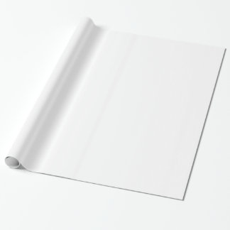 Solid White Wrapping Paper