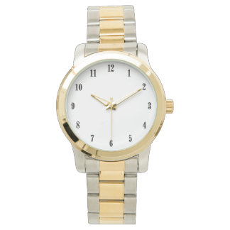 Solid White Wrist Watch