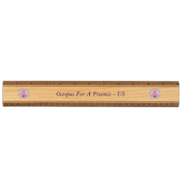 Solid Wood Ruler Octopus For A Preemie - US