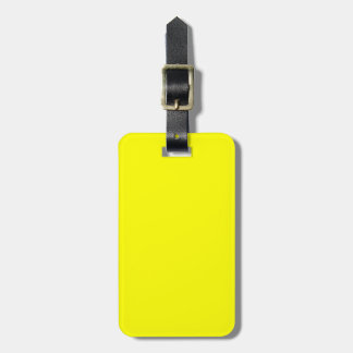 Solid Yellow Luggage Tag