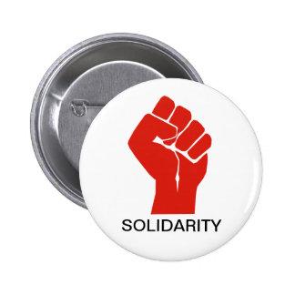 Solidaridad con las uniones de Wisconsin Pin Redondo 5 Cm