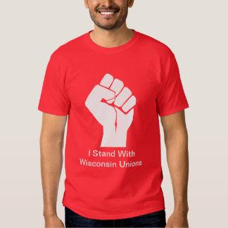 Solidaridad con las uniones de Wisconsin Playera