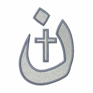 Solidaridad cristiana de la cruz del símbolo del polo bordado