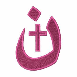 Solidaridad cristiana de la cruz del símbolo del chaquetas bordadas
