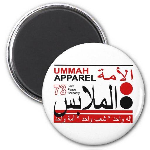Solidaridad de la paz de la fe de la ropa de Ummah Imán Para Frigorífico