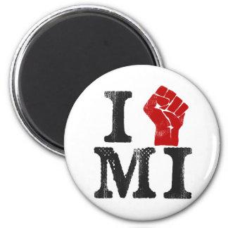 Solidaridad de Michigan Imán Redondo 5 Cm