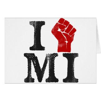 Solidaridad de Michigan Tarjeta De Felicitación