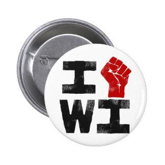 Solidaridad de Wisconsin Pin Redondo De 2 Pulgadas