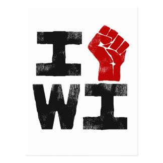 Solidaridad de Wisconsin Tarjeta Postal
