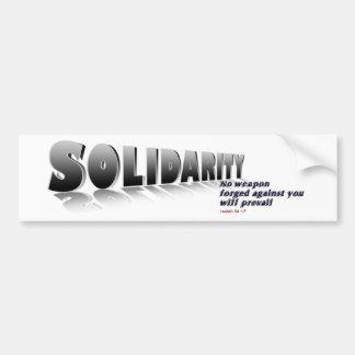 Solidaridad W Pegatina Para Auto