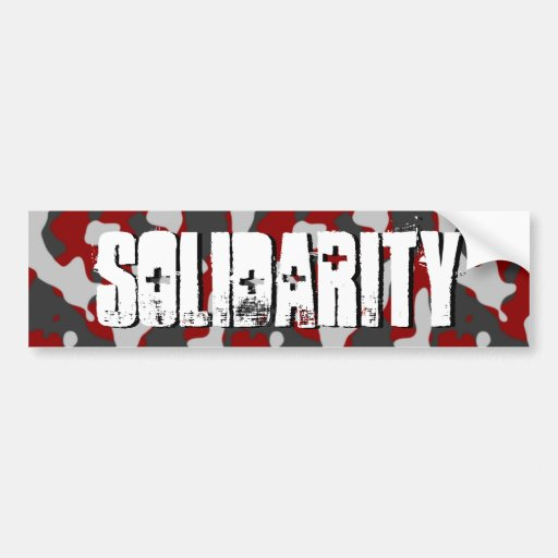 Solidarity 3-D Camo-Military Support by SKO Bumper Stickers