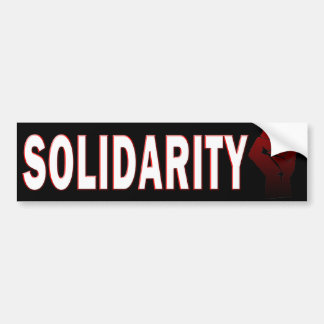 SOLIDARITY BUMPER STICKER