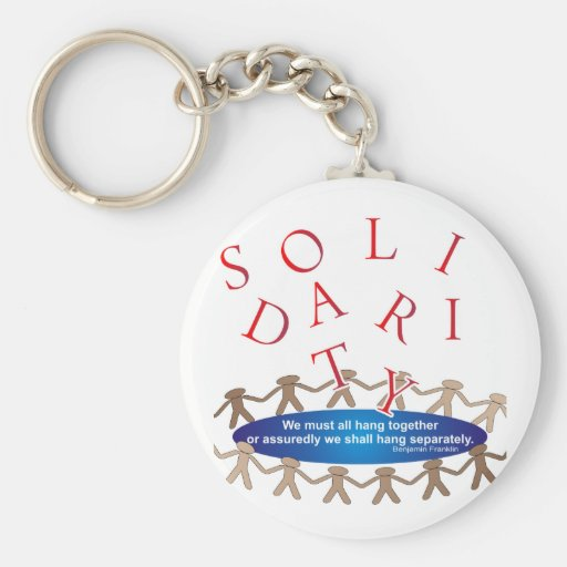 Solidarity Expressions Basic Round Button Keychain