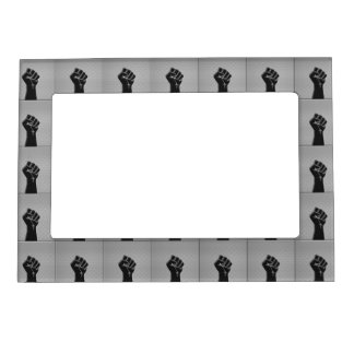 Solidarity Fist Carbon Fiber Decor Style Magnetic Photo Frame