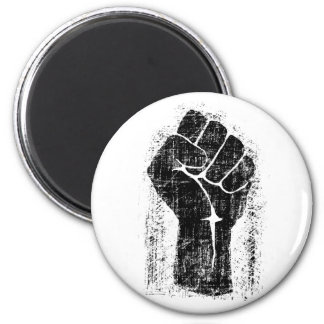 Solidarity Fist Grunge Distressed Style 2 Inch Round Magnet