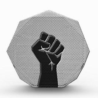 Solidarity Fist in Carbon Fiber Decor Acrylic Award