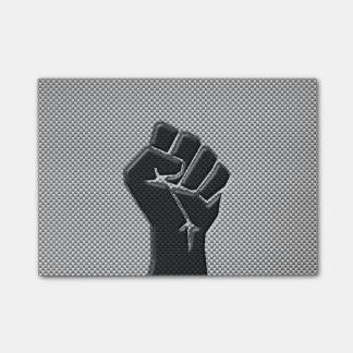 Solidarity Fist in Carbon Fiber Decor Post-it® Notes
