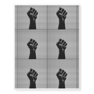 Solidarity Fist in Carbon Fiber Decor Temporary Tattoos