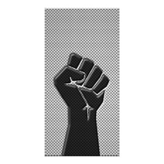 Solidarity Fist in Carbon Fiber Print Style Card