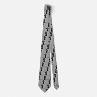 Solidarity Fist in Carbon Fiber Print Style Tie