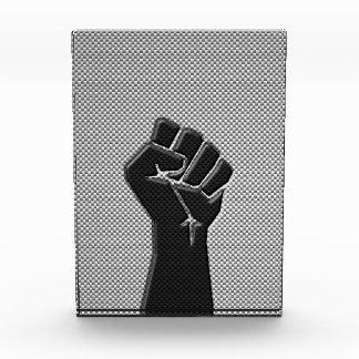 Solidarity Fist in Carbon Fiber Style Acrylic Award