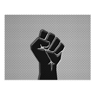 Solidarity Fist in Carbon Fiber Style Postcard