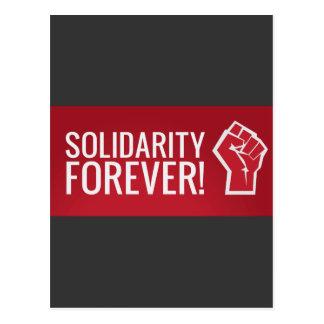 Solidarity forever! postcard