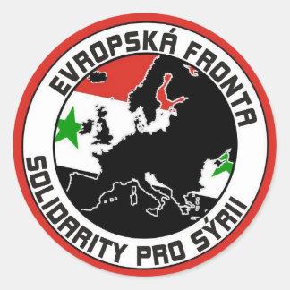 solidarity_front_for_syria pegatina redonda