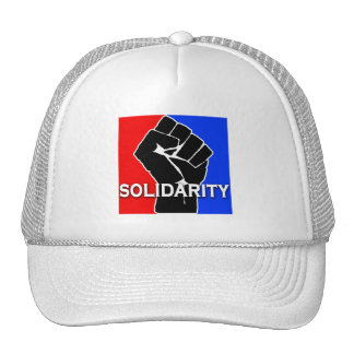 SOLIDARITY in Red, White, Blue and Black Hat