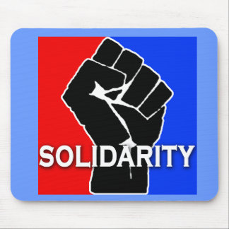 SOLIDARITY in Red, White, Blue and Black Mouse Pad