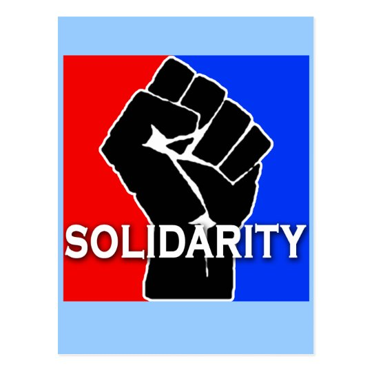 SOLIDARITY in Red, White, Blue and Black Postcard