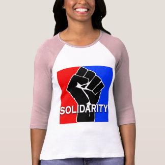 SOLIDARITY in Red, White, Blue and Black Tee Shirt
