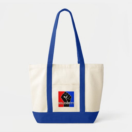 SOLIDARITY in Red, White, Blue and Black Tote Bags