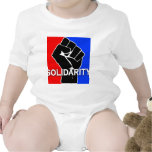 SOLIDARITY in Red, White, Blue and Black Baby Bodysuits