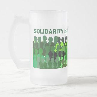 Solidarity mug* frosted glass beer mug