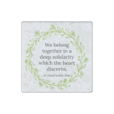 Solidarity Stone Magnet at Zazzle