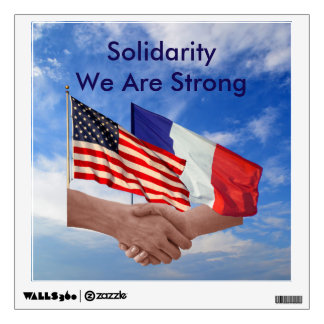 Solidarity We Are Strong Square Wall Decal