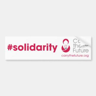 #solidarity White Bumper Sticker