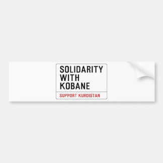 SOLIDARITY WITH KOBANE BUMPER STICKER