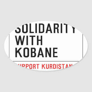 SOLIDARITY WITH KOBANE OVAL STICKER