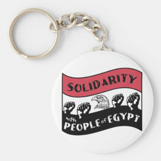 Solidarity with People of Egypt Basic Round Button Keychain